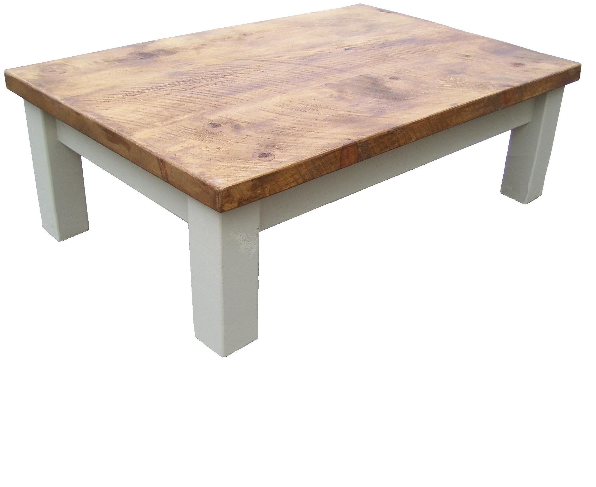Rustic Coffee Table.Painted Rustic Coffee Table